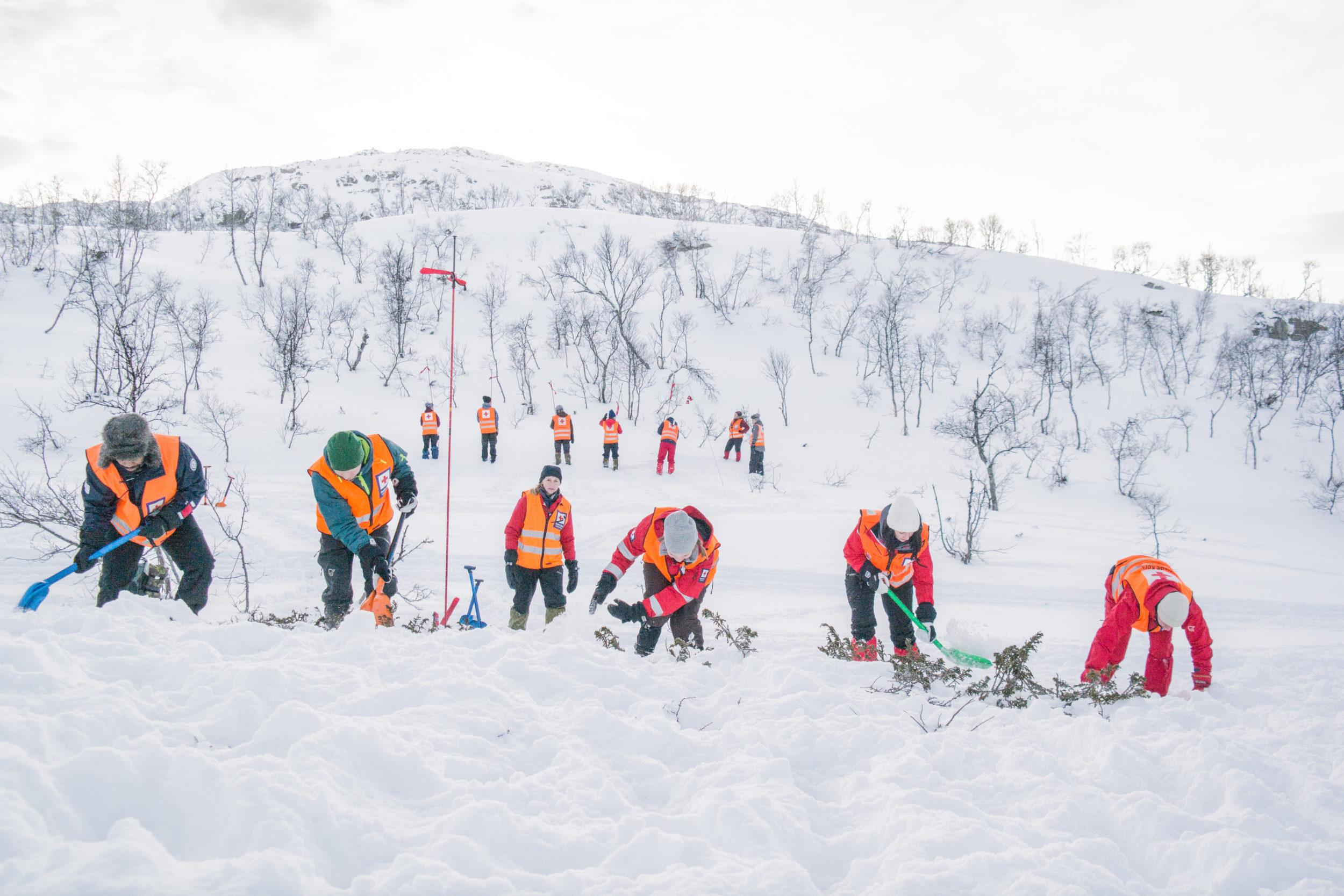 Slik trener Hjelpekorpset på vinterredning